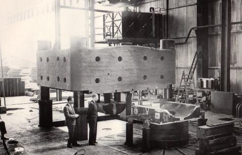 2000 ton Flanging Press, views taken on site, O/No. 3920, c.1955