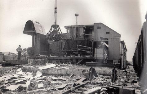 Treble Action Scrap Baling Press, views taken on site, O/No. 4780, c.1952