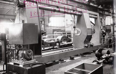 200 ton Wheel Press, O/No. 57120, c.1957