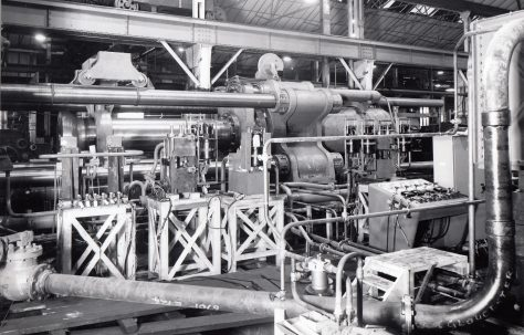 1800 ton Carbon Extrusion Press, O/No. 6700/55, c.1955