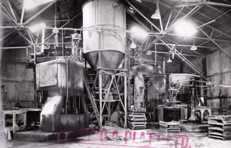400 ton Three-Mould Slab Plant, O/No. 5580, c.1954