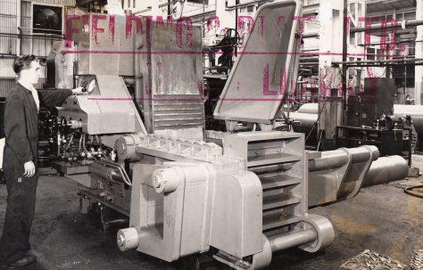 Triple Compression Scrap Baler, O/No. 58100, c.1958