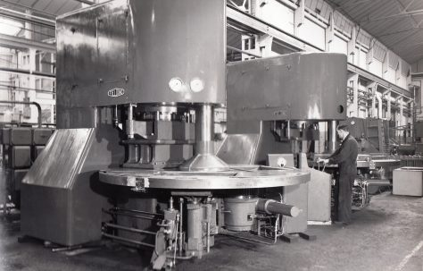 400 ton Three-Mould Slab Press Plant, views taken at assembly and on site in 1959 and 1966, O/No. 58160, c.1958