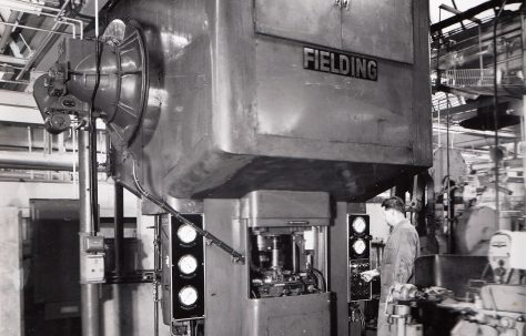 250 ton Cold Drawing Press, view taken on site, O/No. 56130, c.1956