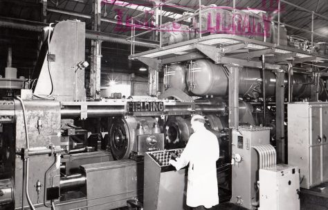 1000 ton Horizontal Extrusion Press, O/No. 58090, c.1957