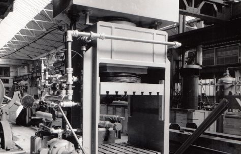300 ton Laboratory Press under construction, O/No. 58060, c.1958