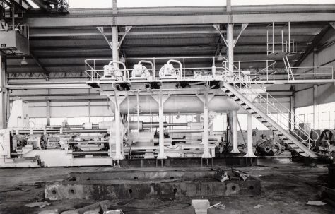 1000 ton Horizontal Extrusion Press, view taken on site, O/No. 58470, c.1959