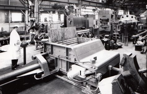 """12"""" Cube Toggle-Action Baler, views taken at assembly and on site, O/No. 59890, c.1959"""