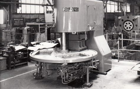 400 ton Three-Mould Slab Press, O/No. 60670, c.1960