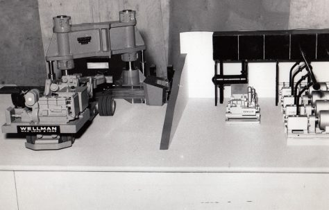 Model of a 1500 ton Pull - Down Forging Press, c.1960