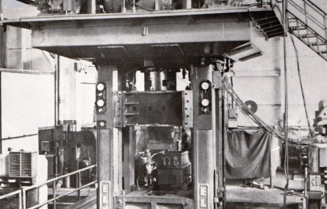 250 ton 'Elmes' Carbon Briquetting Press, c.1960