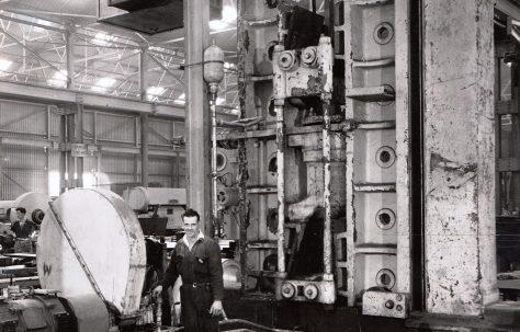 370 ton Vertical Plate Bender, photo taken early 1960s, O/No. 6889, c.1904