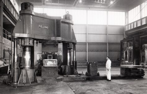 1500 ton Vertical Pulldown Two-Column Forging Press, Part 1, views taken on site, O/No. 59570, c.1959