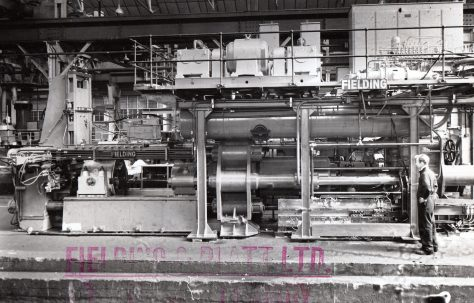 1000 ton Horizontal Extrusion Press, with Pan Coilers, O/No. 60240, c.1960