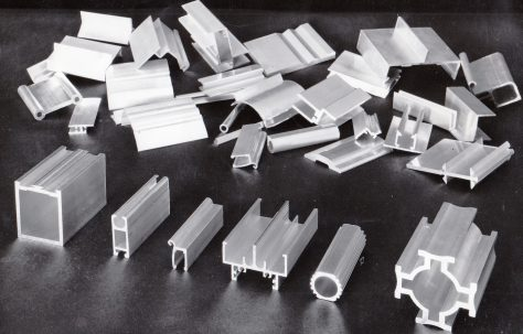 Sample sections of some typical Aluminium Extrusions of the era, c.1960