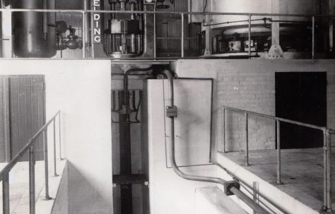 Reconditioned 700 ton 'Serck' type Extrusion Press, view taken on site, O/No. 57680, c.1957