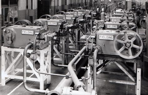 Set of 10-H3 Pumps and piping, part of a 400 Gallon Accumulator Station, O/No. 61530, c.1961