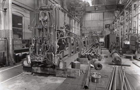 Hydraulic Tube Testing Machine, views under construction and on site, O/No. 61150, c.1961