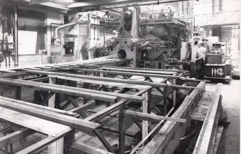 1000 ton Extrusion Press Plant, views taken on site, O/No. 60240, c.1960