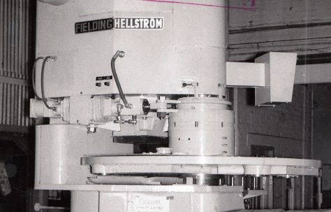 4 - Station Fielding Hellström Tile Press; initial views taken on a low-loader, prior to shipment to Paris, c.1963