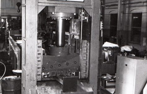 250 ton Fielding/Richard Iron Shark Shear, with Power Conveyor and Power Roll, views taken under test and on site,  O/No. 62550, c.1962