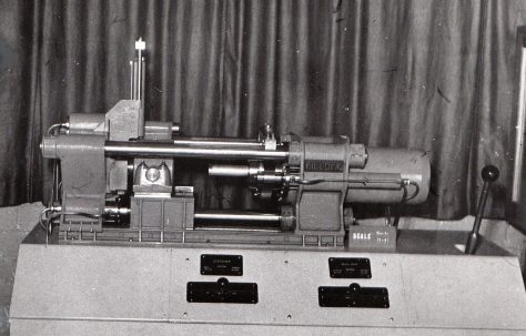 Model of a 1600 ton Package-Type Extrusion Press, c.1963
