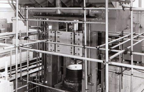 1000 ton Downstroking Press under erection, O/No. 63060, c.1963