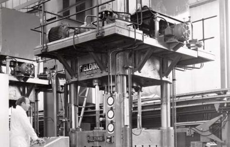500 ton Straightening & Trimming Press, O/No. X87460, c.1974