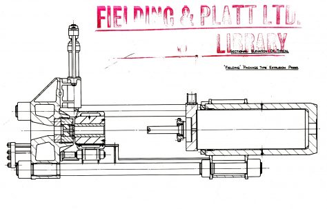 Line Drawings of a Typical 1960s Layout of a 'Fielding' Package - Type Extrusion Plant, c.1963