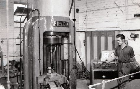 850 ton Vertical Extrusion Press, views taken on site, O/No. 62440, c.1963