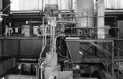 200 ton Briquetting Press under erection, O/No. B92330, c.1977