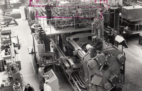 1300 ton Package-type Extrusion Press, O/No. 63510, c.1964