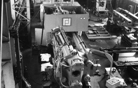16MN Horizontal Extrusion Press, view taken at erection, O/No. E92950, c.1977