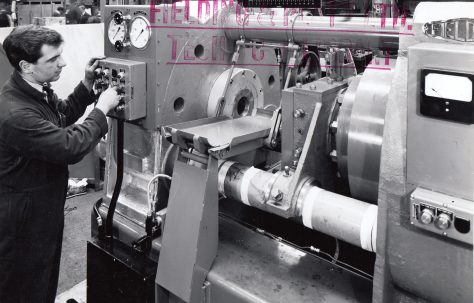 350 ton Solder Extrusion Press, O/No. 63680, c.1964