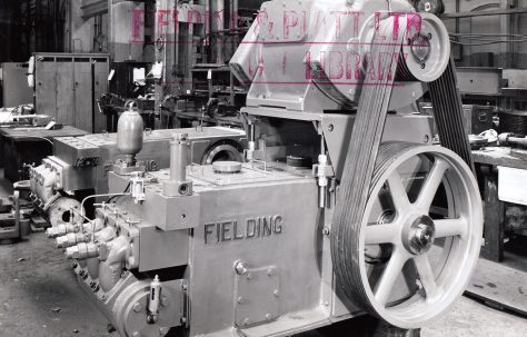H3 Pump with overhead mounted motor, O/No. 63362, c.1964