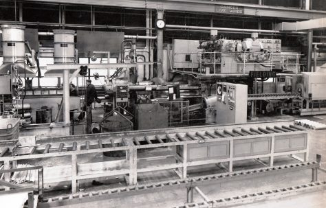 1600 ton Horizontal Extrusion Press, views taken on site, O/No. 64070, c.1964