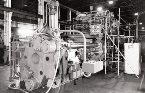 1600 ton Package-type Extrusion Plant, views at erection and on site, O/No. 64200, c.1964