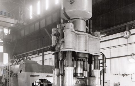 800 ton Forging Press, views taken on site, c.1963