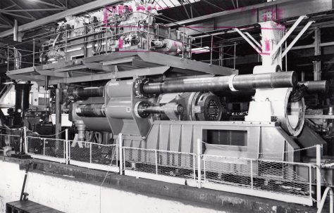 2750 ton Horizontal Extrusion Press, views taken under construction, O/No. 64370, c.1965