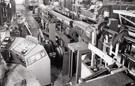 1500 ton Indirect Horizontal Extrusion Press, views taken on site, O/No. 63370, c.1964