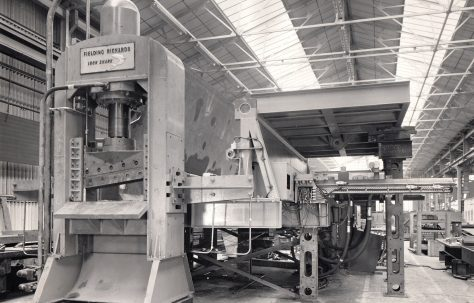300 ton Fielding/Richards Iron Shark Shear with Squeeze Box, views taken at Strachan & Henshaw, Bristol,  O/No. 64490, c.1965