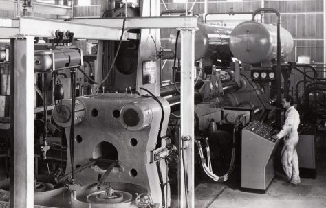 1750 ton Horizontal Extrusion Press, views taken on site, O/No. 62220, c.1963