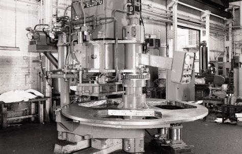 460 ton Three-Column Three-Mould Slab Press, O/No. 65670, c.1966