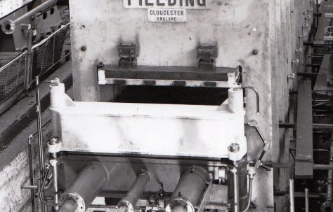 4580 ton Belting Press, views under construction and on site in 1969, O/No. 65570, c.1965