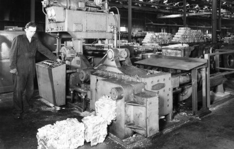 "12"" Heavy Duty Scrap Metal Baler, views taken on site, O/No. 65190, c.1966"