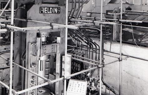 200 ton Downstroking Press under construction, O/No. 64850, c.1965