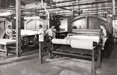 Old Linoleum Presses, 'still in use today', c.1967