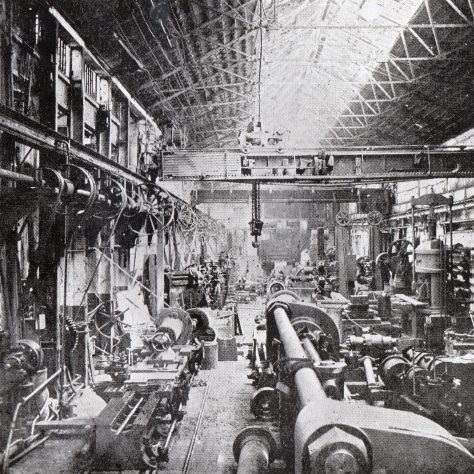 Another view of the Hydraulic Erecting Shop on 15/05/1905    D7338/14/5/17/7011A | Gloucestershire Archives