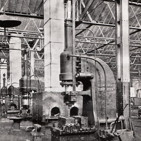 Two - 100 ton Forging Presses at G.W.R. Swindon Works, c.1905    D7338/14/5/17/7016 | Gloucestershire Archives