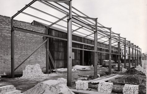 Photographs of the 'New' Light Machine Shop, under construction
